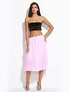 החצאית של נשים הוורודות / לבן / שחורה / ירוקה / בז ', בציר / midi חמוד שכבתית