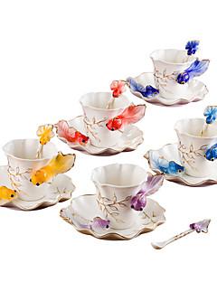Alkalmi poharak Teáscsészék Borospoharak Vízes üvegek Kávéscsészék Tea és ital 1 PC Kerámia, -  Jó minőség