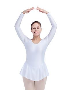 Ballet Skating Dress Women's Children's Performance Nylon Lycra 1 Piece Long Sleeve Dress