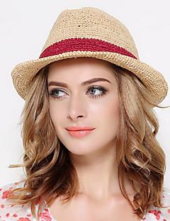 כובע דלי כובע קש יוניסקס וינטאג' מסיבה עבודה יום יומי,קש חורף קיץ