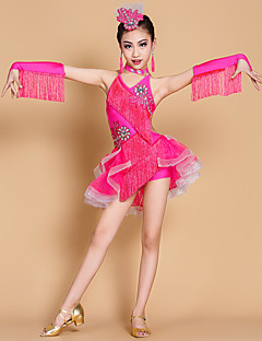 Shall We Latin Dance Dresses Children Performance 7 Pieces Dress