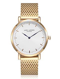 Dames Dress horloge Japans Kwarts Waterbestendig Roestvrij staal Band Glitter Bedeltjes Goud Goud
