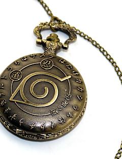 Clock/Watch Inspired by Naruto Naruto Uzumaki Anime Cosplay Accessories Golden Alloy