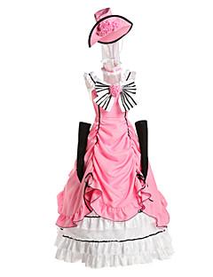 Inspirovaný Black Butler Ciel Phantomhive Anime Cosplay kostýmy Cosplay šaty / Šaty Patchwork Růžová Bez rukávů K šatům