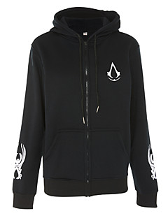 Inspired by Assassin's Creed Cosplay Anime Cosplay Costumes Cosplay Hoodies Print Black Long Sleeve Top / More Accessories