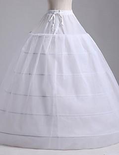 Anáguas Slip Linha-A Slip de Baile Comprido 2 Rede Tule Poliéster Branco