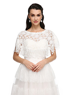 Women's Wrap Ponchos Lace Wedding Party/Evening Tassels