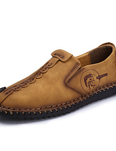 Kényelmes Könnyű talpak-Lapos-Női cipő-Papucsok & Balerinacipők-Szabadidős Alkalmi-Bőr-Fekete Khaki Föld Sárga