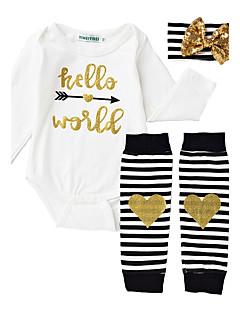 bébé Fille Décontracté / Quotidien Rayé Ensemble de Vêtements,A Rayures Eté Printemps Automne