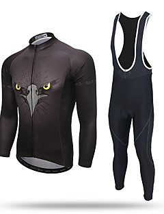 XINTOWN Calça com Camisa para Ciclismo Homens Manga Longa Moto Calças Moletom Camiseta com Fecho Camisa/Roupas Para Esporte Tights Bib