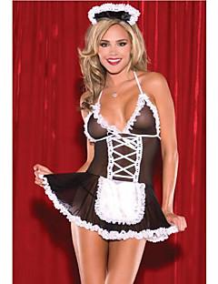תחפושות קוספליי חליפות חדרניות Nurses פסטיבל/חג תחפושות ליל כל הקדושים שחור עם לבן קולור בלוק חצאית ביריותהאלווין (ליל כל הקדושים) חג