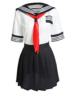 Sexy Girl Polyester School Uniform Cosplay Costumes Party Costume Student/School Uniform Career Costumes Festival/Holiday Halloween Costumes