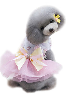 honden Jurken Smoking Hondenkleding Zomer Prinses Bruiloft Modieus Groen Roze Lichtblauw