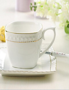minimalisme Glazen en bekers, 300 ml Eenvoudige geometrische Patroon Decoratie Keramiek Thee Naakt Dagelijks drinkgerei