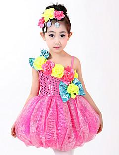 Мы будем латинскими танцевальными платьями детского исполнения, взъерошенные 4 штуки