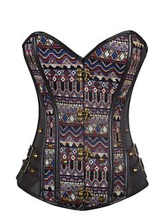 여성 언더버스트 코르셋 잠옷,섹시 푸시 업 Kontor/företag 컬러 블럭-여성의 중간 폴리에스테르