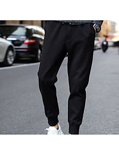 Men's Plus Size Loose Chinos Pants,Casual/Daily Active Solid Mid Rise Elasticity Rayon Inelastic Spring Fall