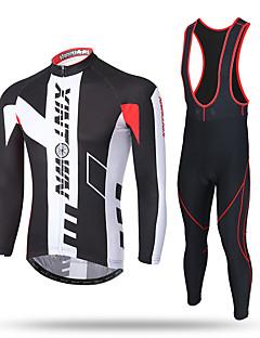 XINTOWN Calça com Camisa para Ciclismo Homens Manga Longa Moto Camiseta com Fecho Camisa/Roupas Para Esporte Tights Bib Calças Moletom