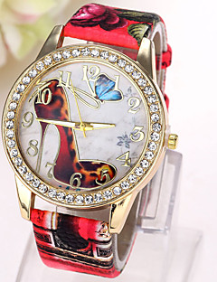 Dámské Módní hodinky Maketa Diamant Hodiny Křemenný imitace Diamond Kůže Kapela Motýl Běžné nošeníČerná Bílá Modrá Červená Hnědá Zelená