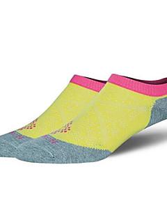 여성의 양말 요가 캠핑 & 하이킹 운동&피트니스 레저 스포츠 달리기 통기성 착용 가능한 초경량 재질 공전방지 땀 흡수 기능성 소재 편안함 봄 여름 가을 옐로우 핑크 퍼플M