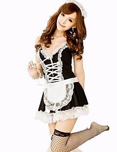 Cosplay Kostýmy Pokojská Festival/Svátek Halloweenské kostýmy Černá Jednobarevné Karneval Dámské Nylon
