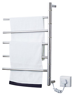 """Towel Warmer Stainless Steel Wall Mounted 620 x 500 x 112mm (24.4 x 19.6 x 4.40"""") Stainless Steel Contemporary"""