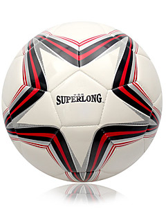 Football(Blanc Rouge,PVC)Haute élasticité Durable