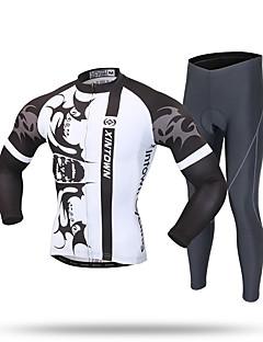 XINTOWN Calça com Camisa para Ciclismo Homens Manga Longa Moto Calças Moletom Camiseta com Fecho Camisa/Roupas Para Esporte Blusas