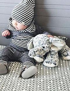 bébé Unisexe Décontracté / Quotidien Rayé Couleur Pleine Ensemble de Vêtements,A Rayures Dessin Animé Toutes les Saisons Printemps Automne