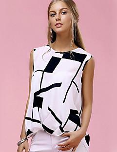T-shirt Da donna Casual Vacanze Sensuale Sofisticato Primavera Estate,Con stampe Rotonda Cotone Senza maniche Sottile