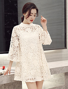 Women's Lace Spot  large size  fat mm long section of the bandwidth Song Leisi dress two-piece back