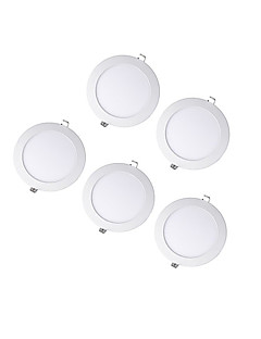 9W Round Dimmable LED Panel light 3000-4000-5000K SMD 2835  AC100-240V 5pcs