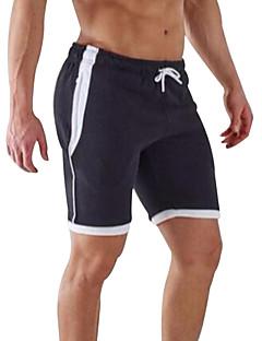 Herre Løp Shorts Bukser Bunner Pustende Fort Tørring Fukt Gjennomtrengelighet Høy Pusteevne (>15,001g) Vår SommerTrening & Fitness