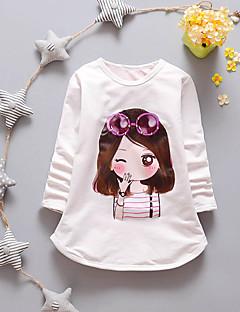 T-Shirt Lässig/Alltäglich einfarbig Baumwolle Frühling Herbst Lange Ärmel Normal