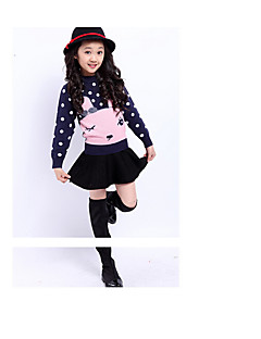 Girls' Casual/Daily Solid Skirt-Wool Winter Fall