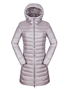 Пальто Простое Активный Длинная Пуховик Для женщин,Однотонный На выход На каждый день Праздник Нейлон Пух белой утки,Длинный рукав