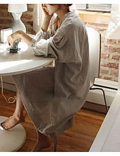נשים בייבידול וכותנות Nightwear-דפוס אחיד-Medium כותנה נשים