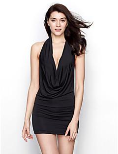 Vrouw Ultrasexy Uniform/chinese jurk Nachtkleding,Sexy Effen-Gemiddeld Polyester Wit Rood Zwart