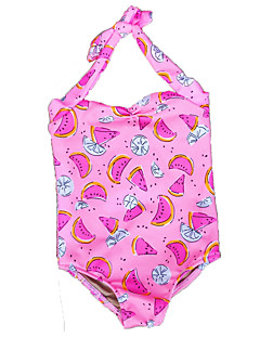 Girls Floral Print Swimwear Baby Kids Camisole Swimming Clothing Girls One-Piece Swimsuit Clothes