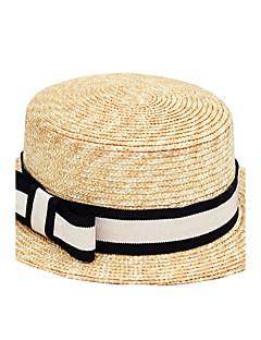 レディース 夏 カジュアル ストロー ゼブラプリント 日よけ帽