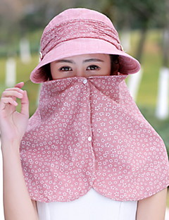 Women 's Summer Mountain Climbing Anti-UV Outdoor Travel Shade Sun Cover Face Flower Printing Visor Cap