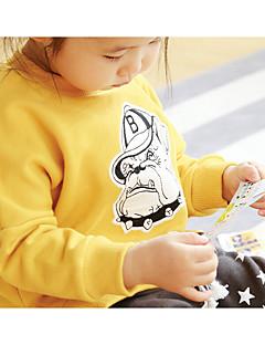 T-shirt Afslappet/Hverdag Ensfarvet,Bomuld Forår