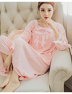 Dámské Šaty Noční prádlo Sexy Jednobarevné-Bavlna Střední Dámské