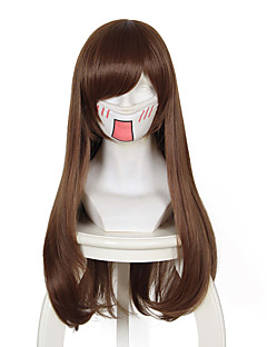 Overwatch D.Va Brown Long Anime Cosplay Wigs Wholesale Resale