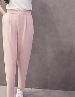 tiro real coreano calças chiffon pés harem pants calça feminina solta fina calça terno fino