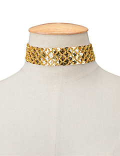 Pentru femei Coliere Choker Bijuterii Șuviță unică La modă Personalizat Euramerican Auriu Negru Argintiu Bijuterii PentruPetrecere Ocazie