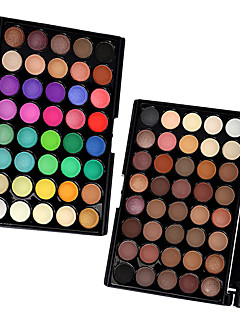 40 Colors  Eyeshadow,  2PCS Mixed Color Sery Palettes in 1 Pack Sombra para Olhos Secos Mate Brilho Homens e Mulheres Lady OlhosLonga