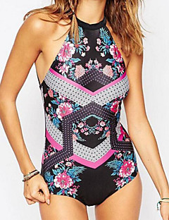 Women's Boho Tankini,Lace Up Solid Polyester Black
