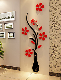 Noël Romance Floral Stickers muraux Autocollants muraux 3D Autocollants muraux décoratifs,Vinyle Matériel Décoration d'intérieurCalque