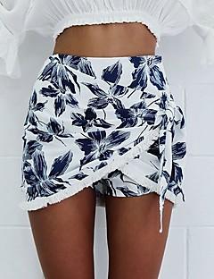 Women's High Rise Club Mini Skirts Bodycon Floral Summer